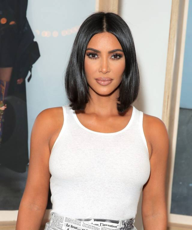 kim kardashian dyes hair frosted brown for summer
