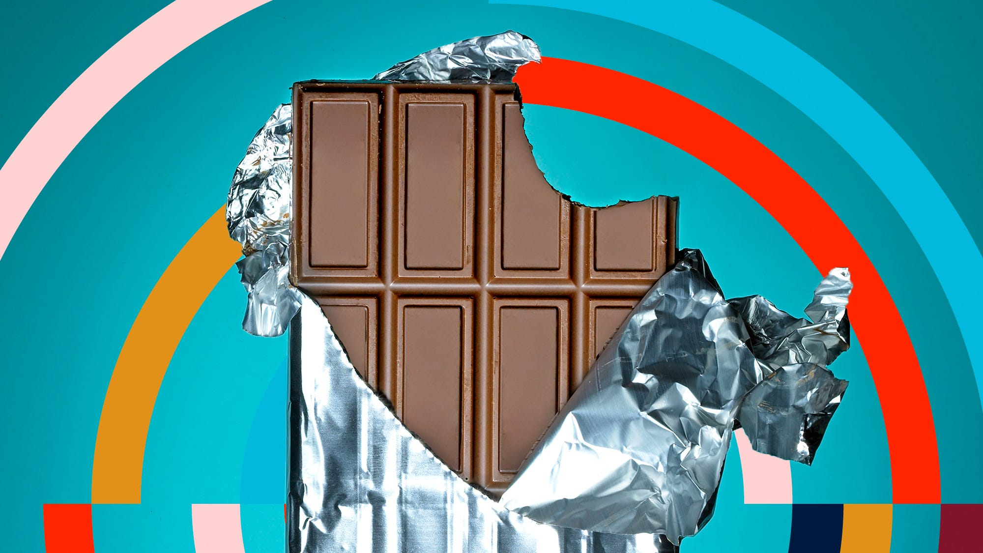Hershey Bar Sections Clipart