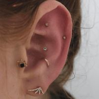 NYC Piercing Trends - Cool Earring Combinations Photos