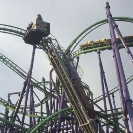 Rollercoaster leaves 24 people trapped 100ft in the air for hours