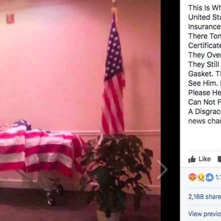 A funeral home displayed a Vietnam vet's body without a coffin over a payment dispute