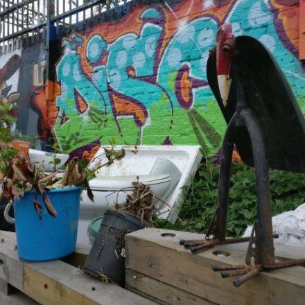 The Nomadic community gardens, London's hidden artistic oasis.
