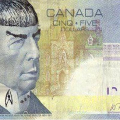 "Bank Of Canada urges Star Trek fans to stop ""Spocking"" their fivers."