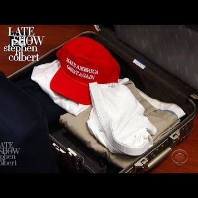 Trump Packs A Suitcase For His First Foreign Trip