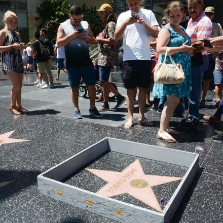 Donald Trump's Walk of Fame Star Gets a Border Wall