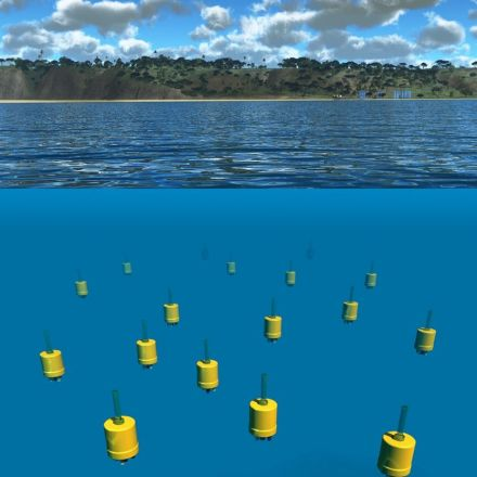 Robot swarm measures the motion of the ocean