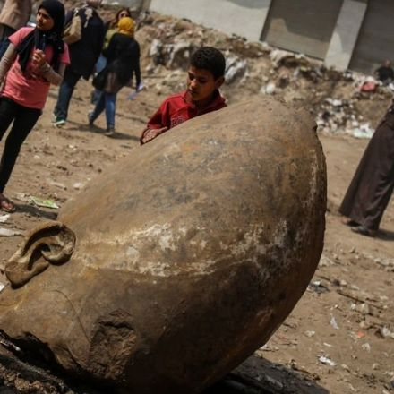 Found: A Colossal Statue of Ramses II Hiding Under a Cairo Street