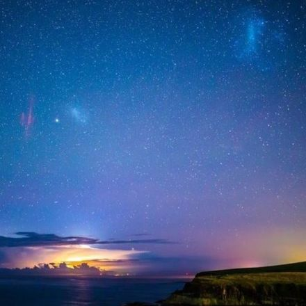 Rare Sprites' Photographed Beside Southern Lights