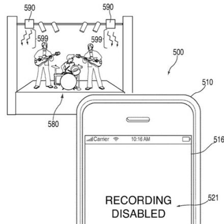 Apple granted patent for way to stop iPhones from taking photos at concerts or sensitive locations
