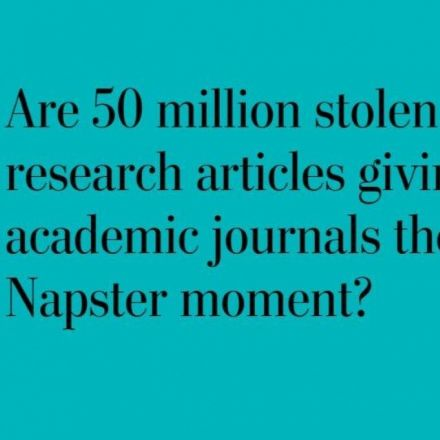 This student put 50 million stolen research articles online. And they're free.