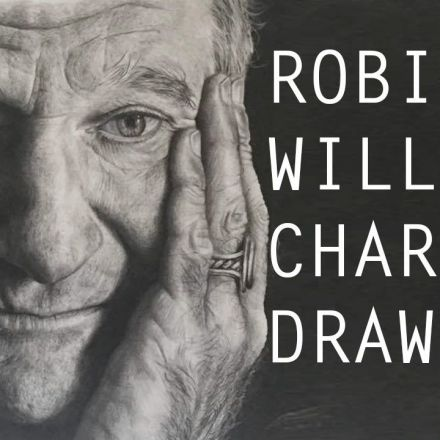 Robin Williams A1 sized charcoal drawing
