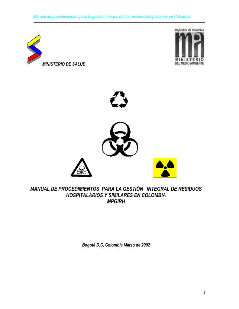 Manual de procedimientos para la gestión integral de residuos