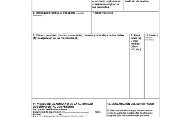 Certificado De Circulación De Mercancías
