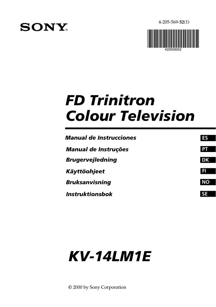 FD Trinitron Colour Television KV-14LM1E Manual de