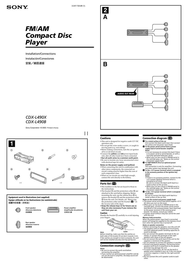 Cautions Connection diagram