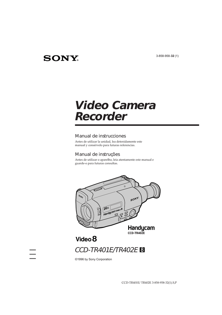 Video Camera Recorder Manual de instrucciones Manual de