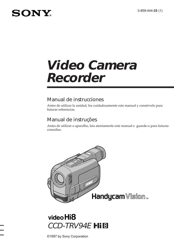 Video Camera Recorder Manual de instrucciones Manual de