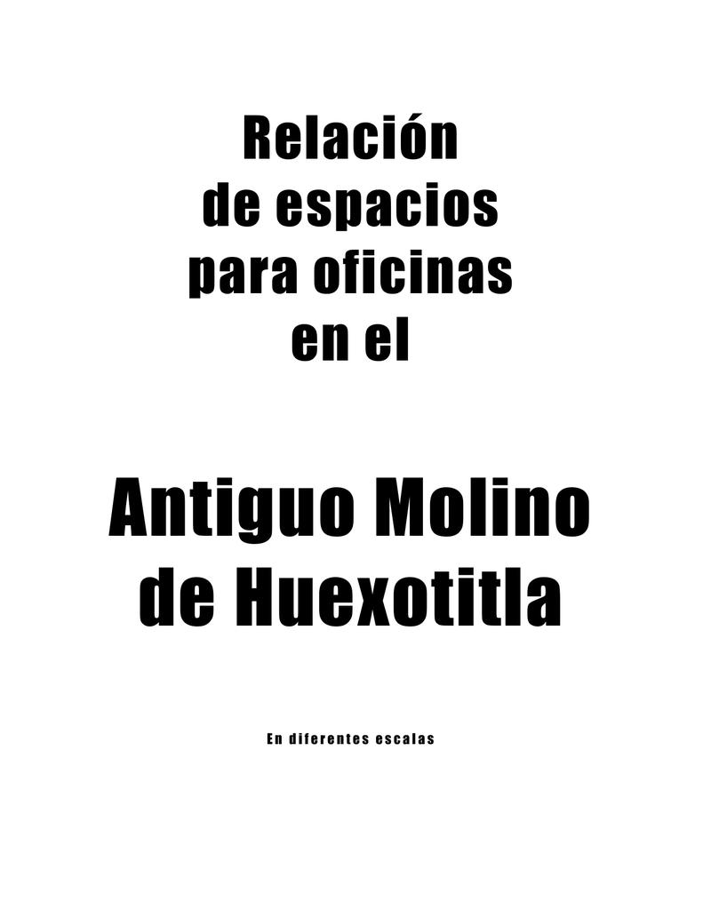 Antiguo Molino de Huexotitla