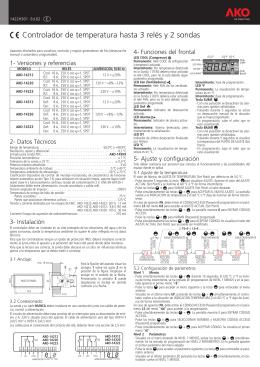 Especificación e Instrucciones de Uso KLT11