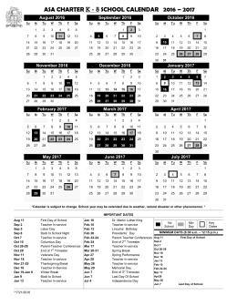 2016-2017 School Rotation Schedule