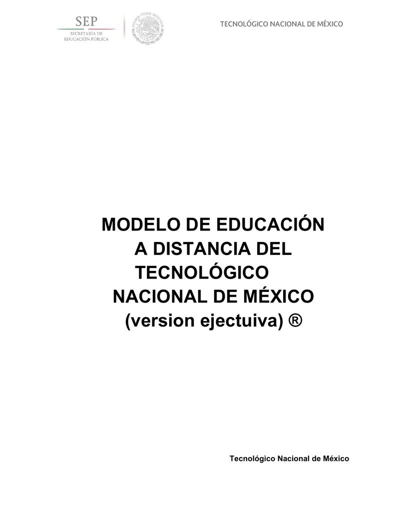 MODELO DE EDUCACIÓN A DISTANCIA DEL TECNOLÓGICO