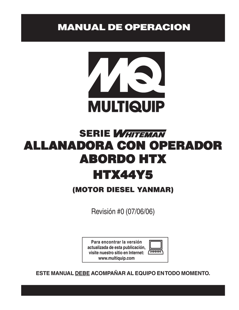 htx-yanmar diesel — mantenimiento