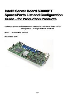 Technical Brief: Intel® Puma™6