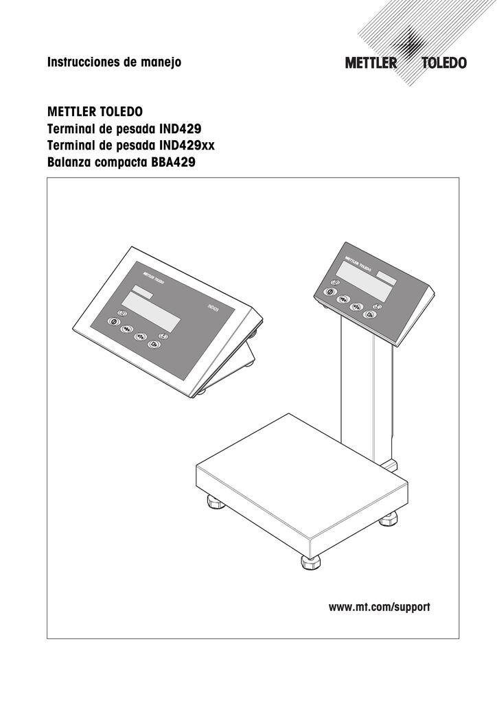 Instrucciones de manejo METTLER TOLEDO Terminal de pesada