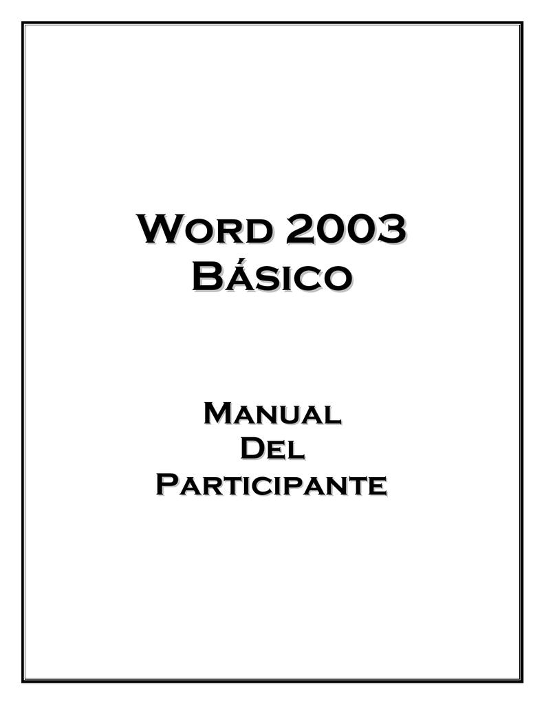 Manual de Word básico