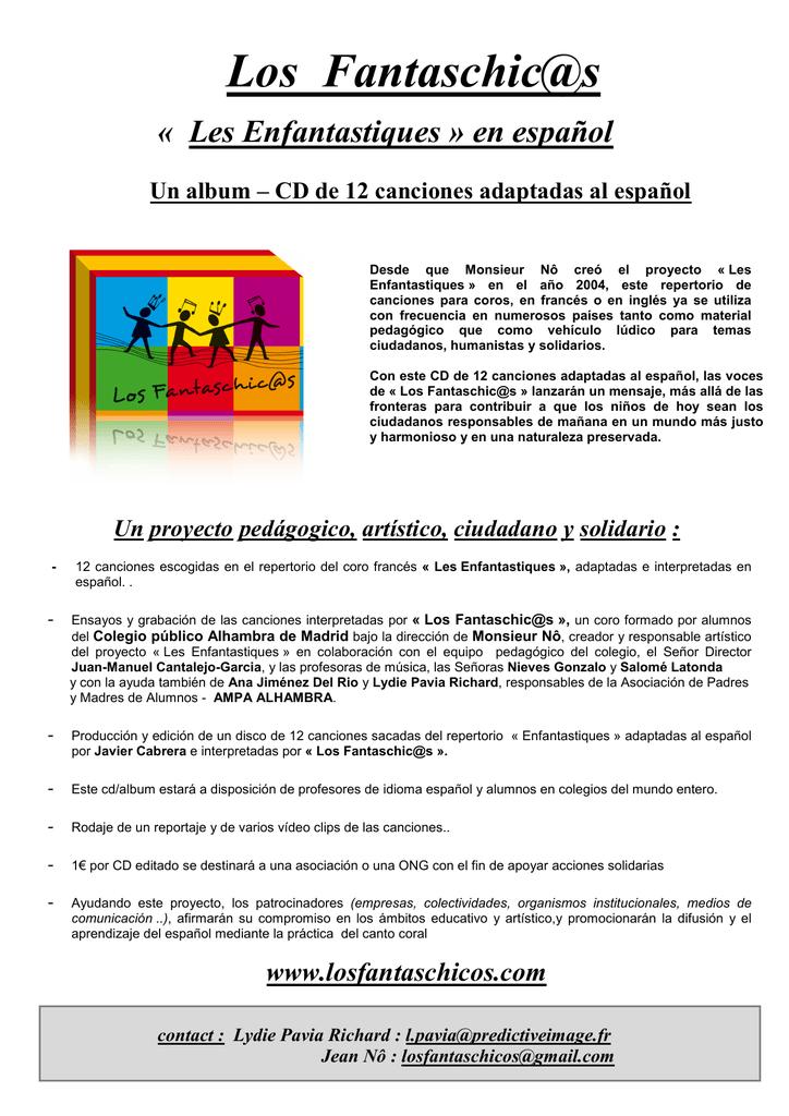 Les Enfantastiques C'est De L'eau : enfantastiques, c'est, l'eau, Fantaschic@s, Enfantastiques, Español)