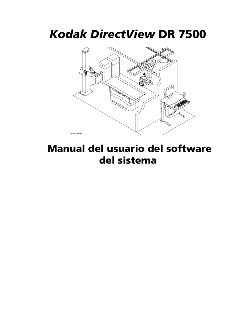 Kodak DirectView DR 7500 Manual del usuario del software del