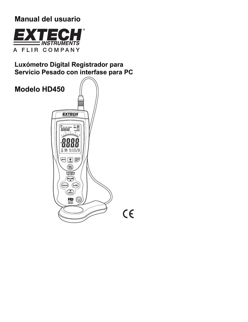 Manual del usuario Modelo HD450
