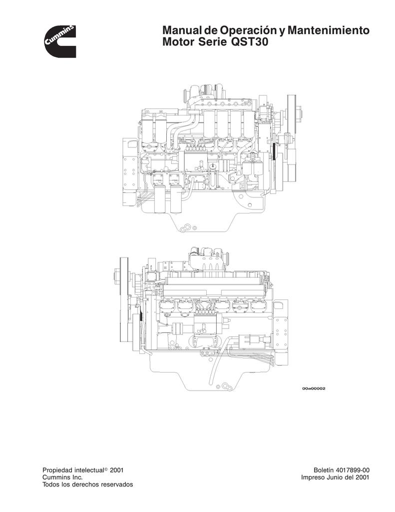 Manual de Operación y Mantenimiento Motor Serie QST30