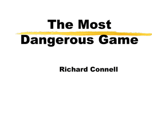 The Most Dangerous Game* Story Questions