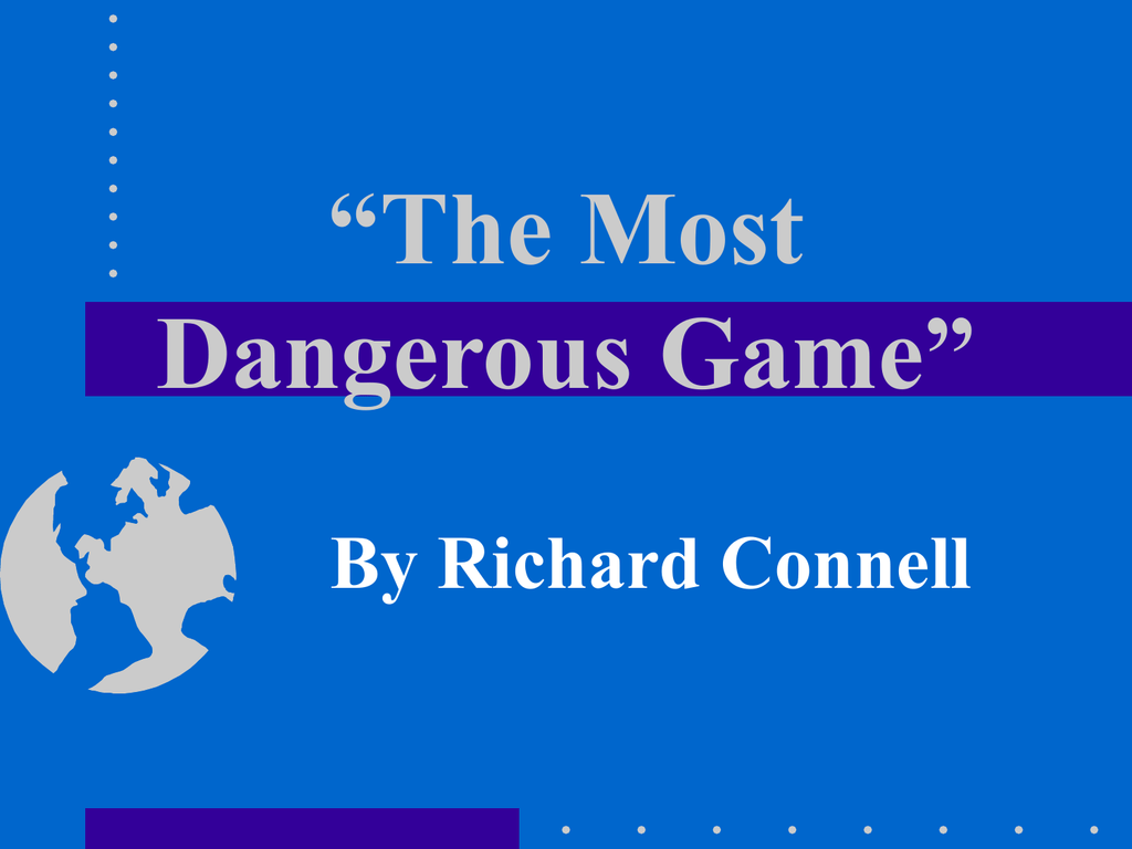 Methods Of Characterization Chart The Most Dangerous Game