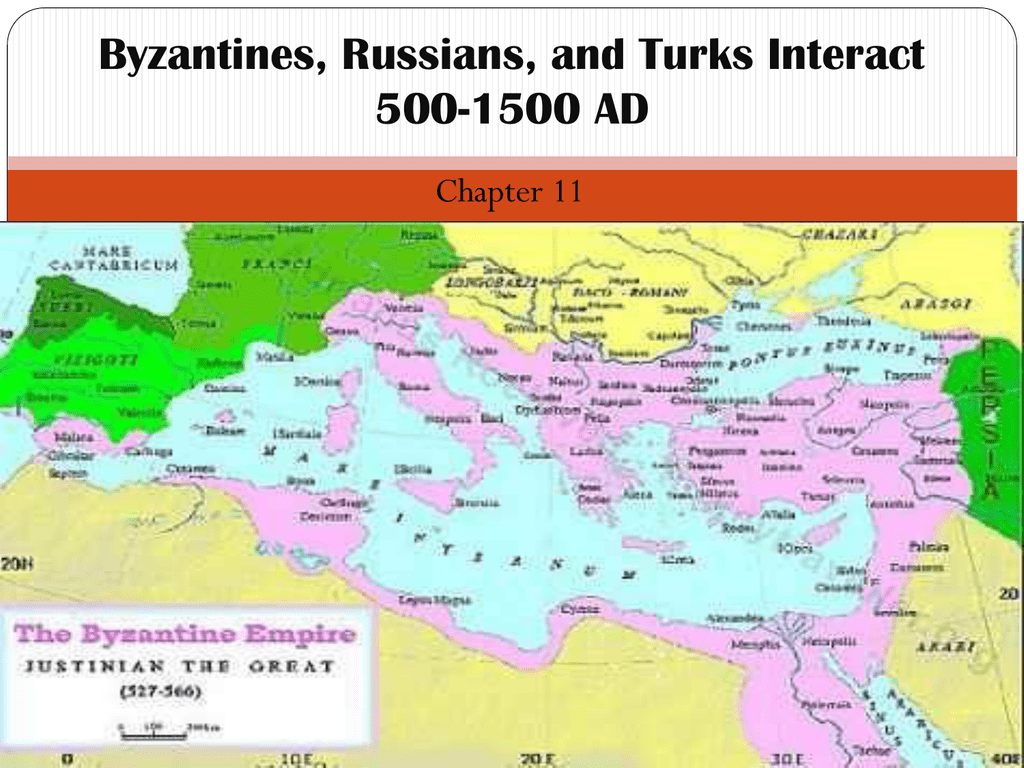 Byzantines Russians And Turks Interact 500 Ad