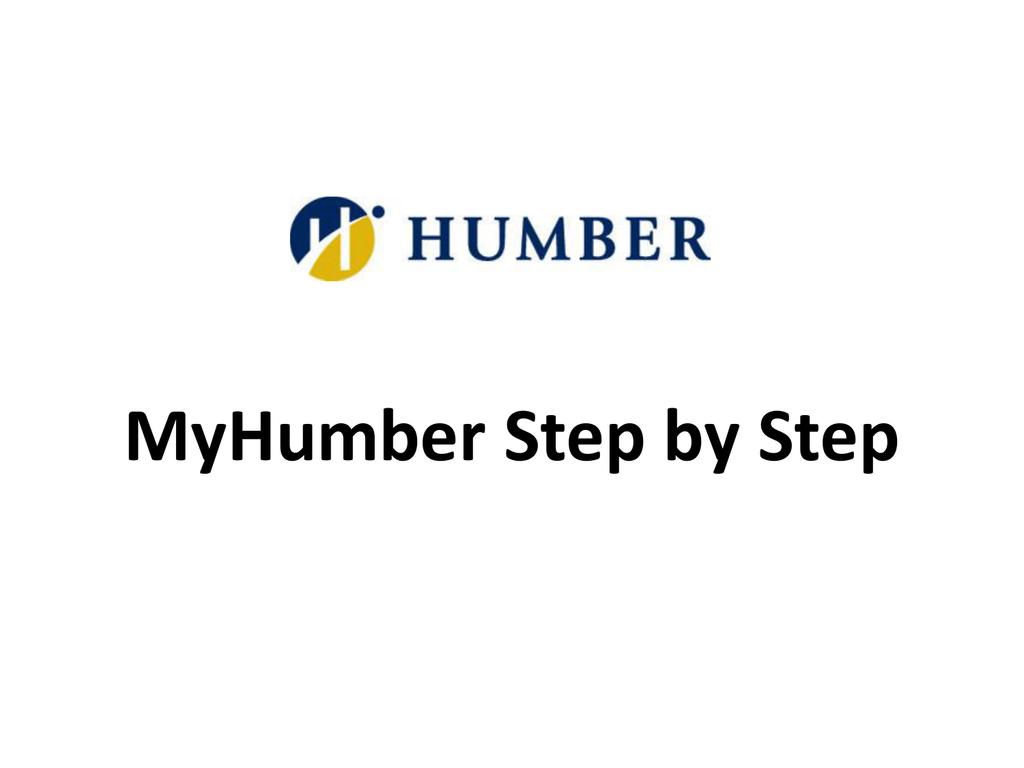 MyHumber Registration Step by Step