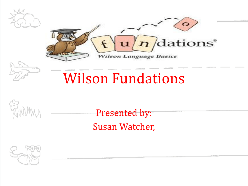 Fundations Sound Cards Powerpoint
