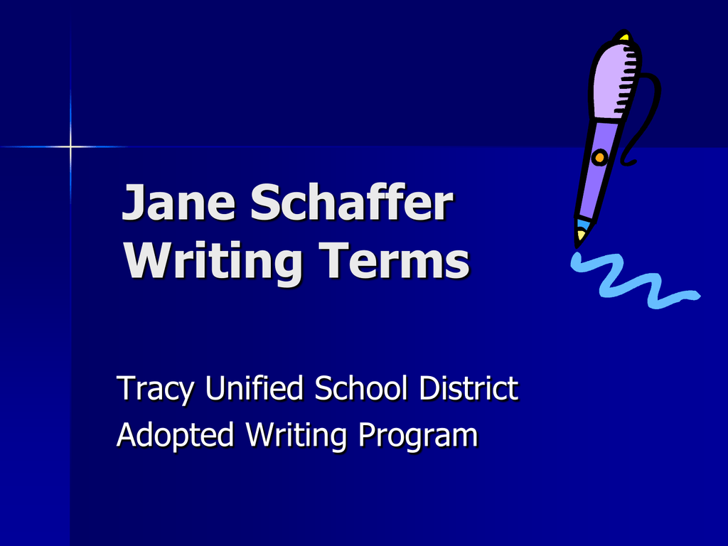 jane schaffer spider diagram example nema l14 30r wiring 2 writing terms tracy unified school district