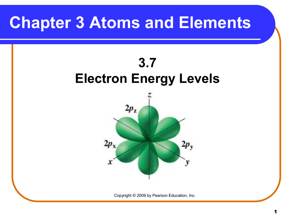 3 7 Electron Energy Levels