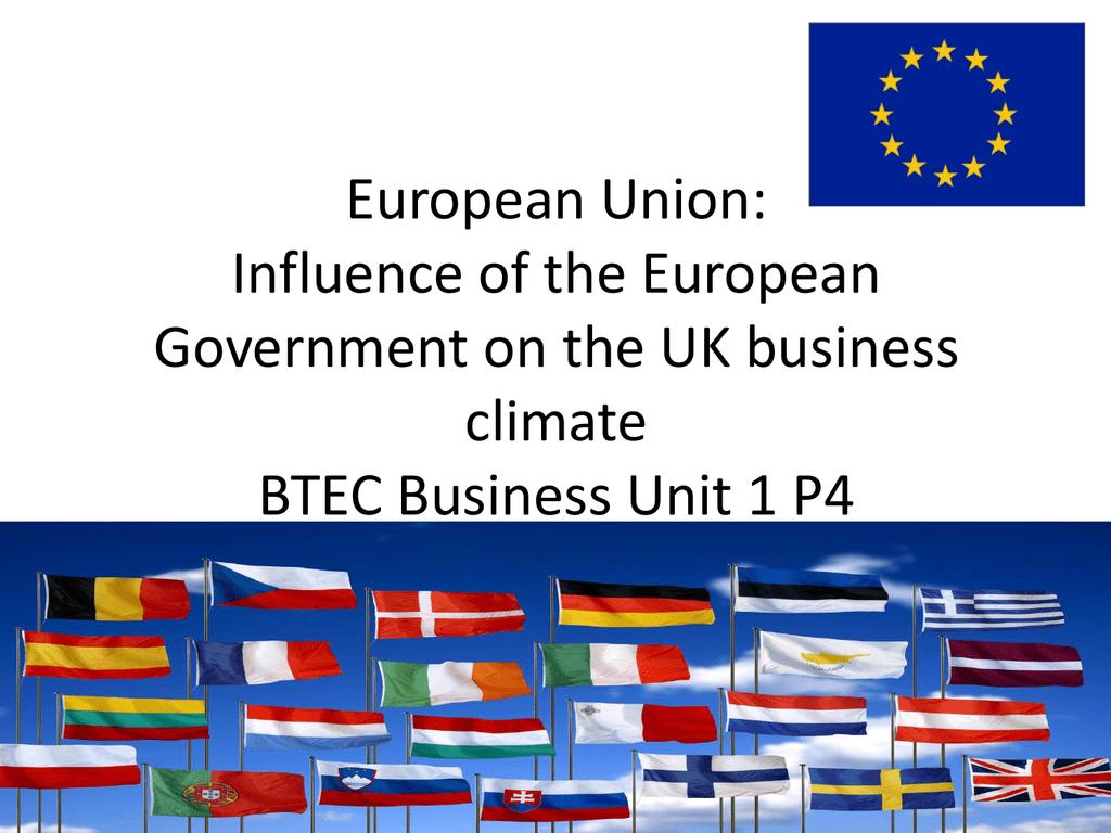 European Union Influence Of The European