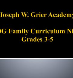 Joseph W. Grier Academy EOG Curriculum Night Grades 3-5 [ 768 x 1024 Pixel ]