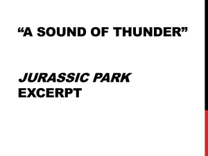 """Kocur Prompt for """"A Sound of Thunder"""" The decisions that one"""