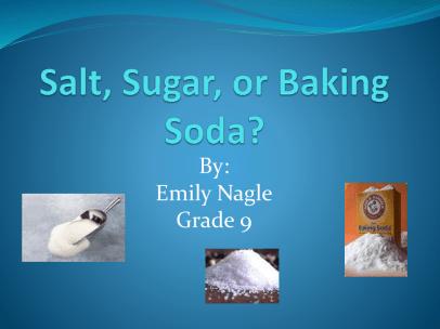 baking soda and sugar