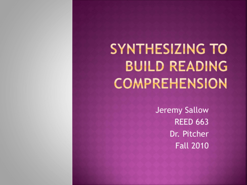small resolution of Synthesizing to Build Reading Comprehension - Isles District 4