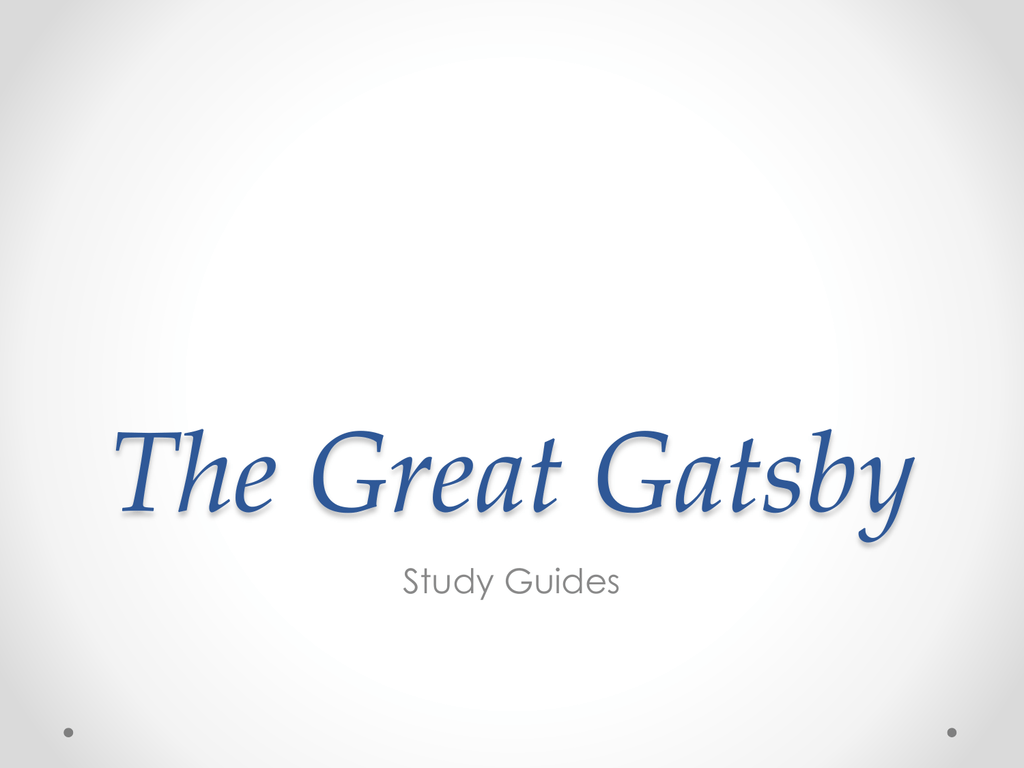 The Great Gatsby Chapter 2 Quiz