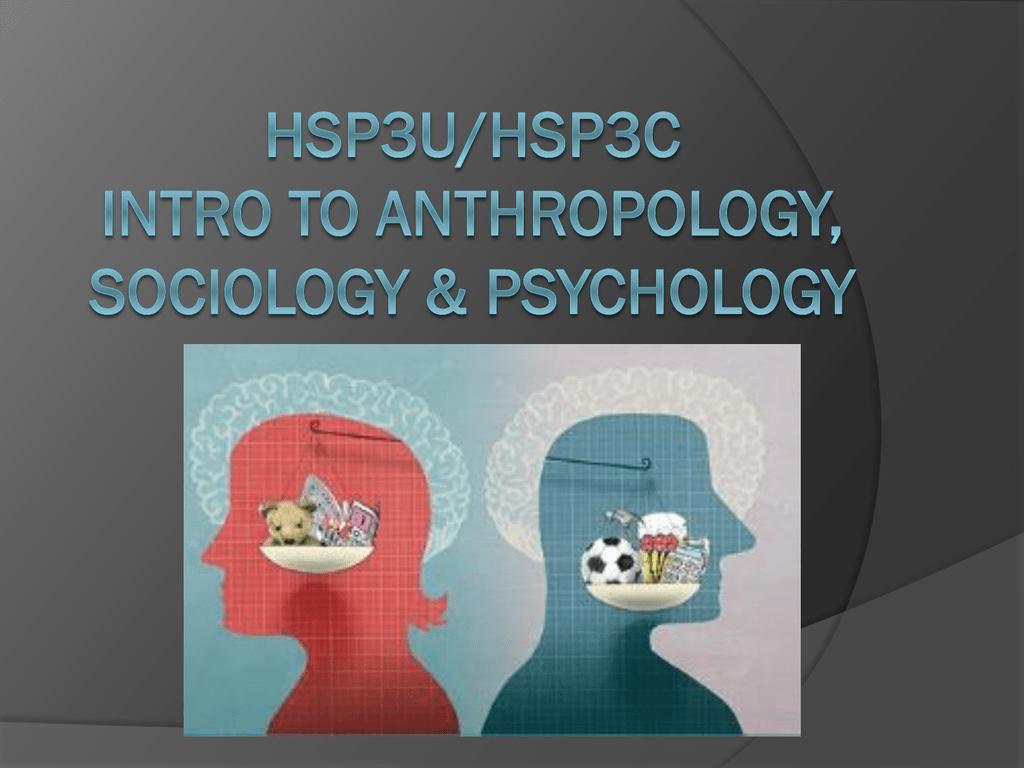 Hsp3m Intro To Anthropology Sociology Amp Psychology