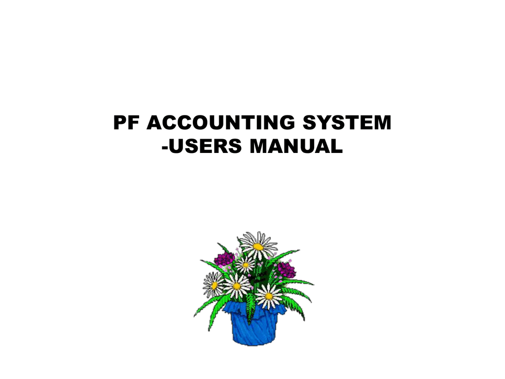 PF Users Manual