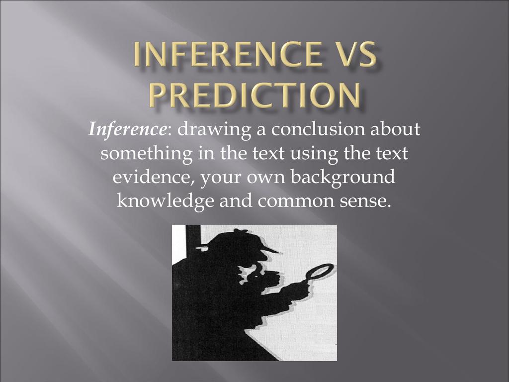 Inference Vs Prediction