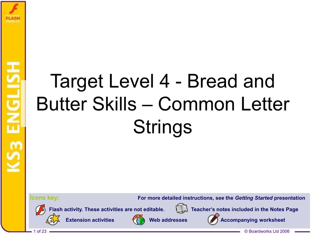 Target Level 4